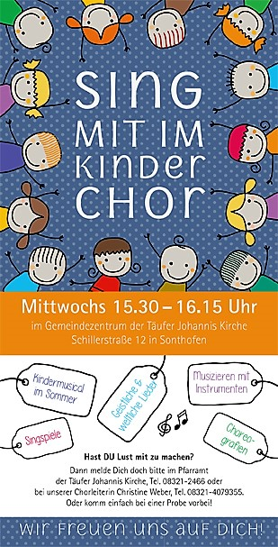 Flyer Kinderchöre